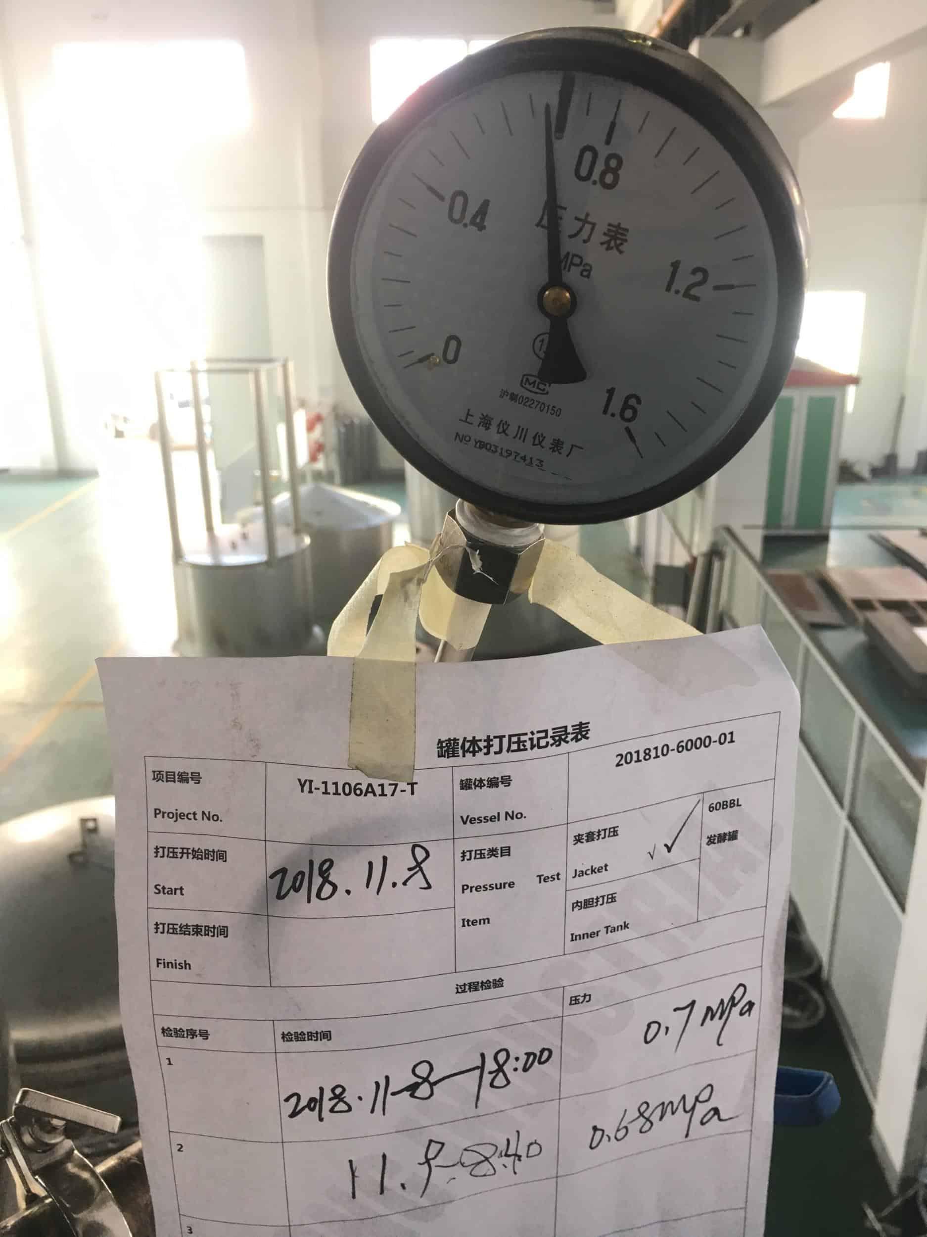 Jacket Pressure Test
